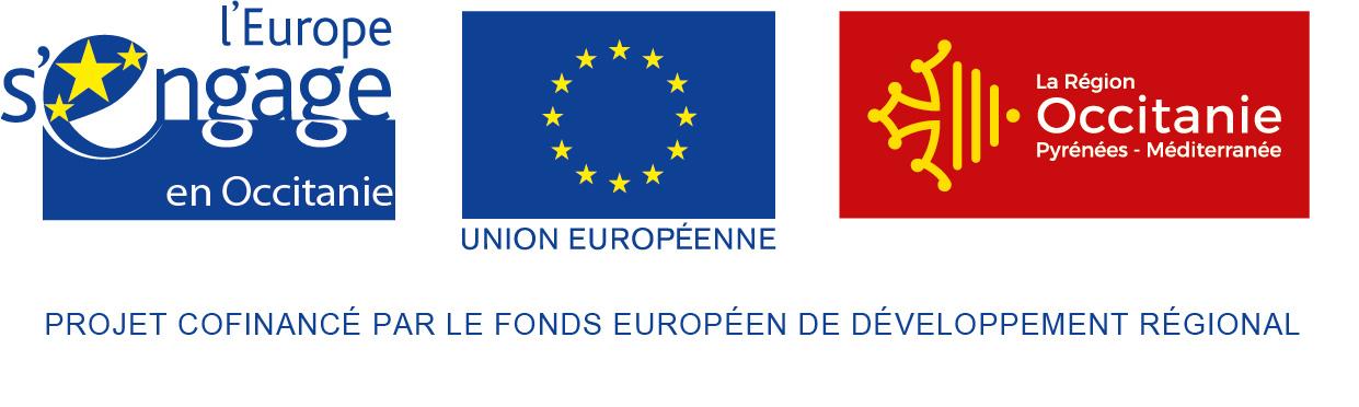 Logos projet FEDER